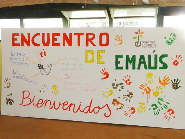 Cartel de bienvenida realizado por la Comunidad de Murcia
